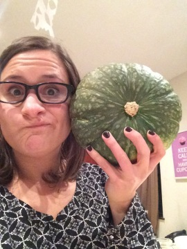 The squash was the size of my head! I had to document it.